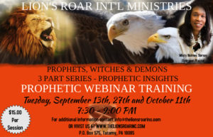 PROPHETIC WEBINAR TRAINING